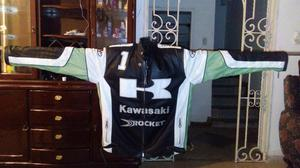Chaqueta Moto Kawasaki Road Racing Joe Rocket Dunlop