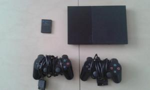 Play Station 2+2 Contoles+memoria De 8mb *claves Originales*