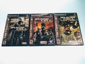 Trilogía Splinter Cell Ps2. Orig. En Excelentes Condiciones