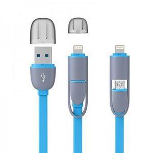 Cable de datos USB Doble Puerto 2 en 1 con conector iPhone 8
