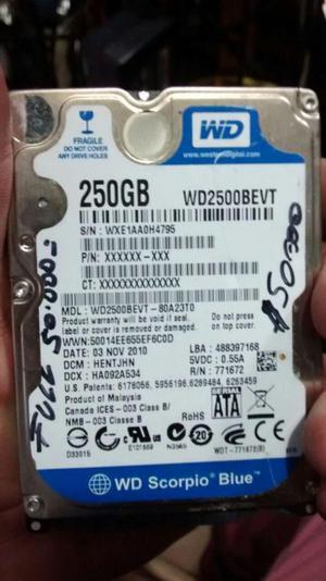 Disco duro para portatil sata 25o gb