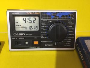 Reloj Mundial Casio Pq 40u Usado Word Time 80`s