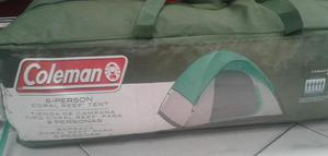 Carpa para camping para 6 personas marca Coleman