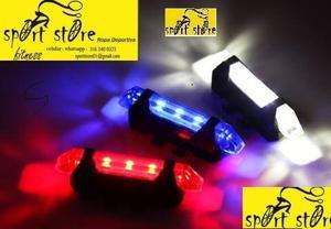 e1 luces bicicleta luces usb 5 led v 1.56 !! NOMAS PILAS !!