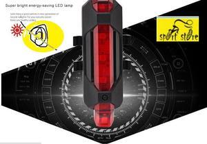 eT1 luces bicicleta luces usb 5 led v 1.56 !! NOMAS PILAS !!