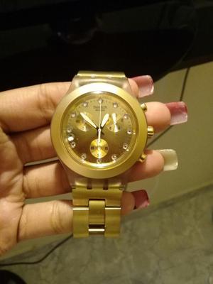 Reloj Swacht Irony Dorado Como Nuevo