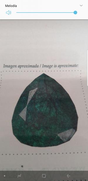 Venpermuto Esmeralda Tipo Museo Certificada Talla lagrima o