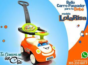 Carro Paseador de Bebé,Lolo Risa,lindos, música y luces en