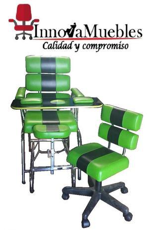 Somos fabricantes muebles para estetica cali posot class for Sillas para manicure y pedicure bogota