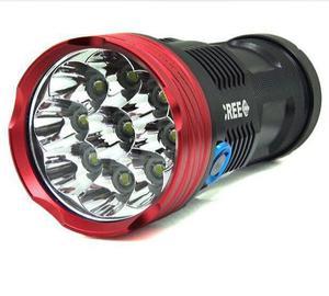 Super Linterna 9 Leds Cree Xmlt6 Recargable  Lumens