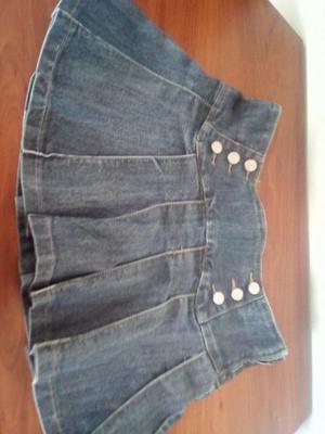 Minifalda de jean talla XS
