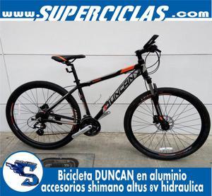 PROMOCIÓN bicicleta DUNCAN rin 27.5 grupo altus 8v
