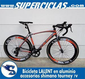 bicicleta LALENT en aluminio, grupo tourney de 7v