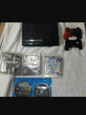 Play Station 3 Super Slim 500g 5 Juegos