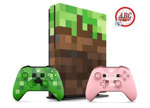 Xbox One S 1tb Edicion Minecraft 2 Controles ! Promocion !