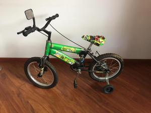 Bicicleta para niño Ben 10 con rueditas de apoyo