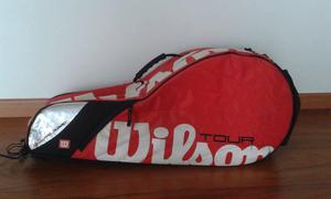 Maletín en lona para raquetas de tenis marca Wilson