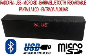 Parlante Bluetooth Barra Sonido Recargable Pantalla Lcd