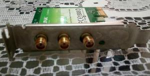 tarjeta de red inalambrica 3 antenas tplink