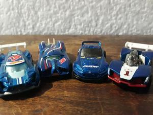 4 Carritos de Carreras Racer Hot Wheels