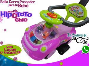 CARRO PASEADOR de Bebé Niñas CHIC, LUCES,MÚSICA y