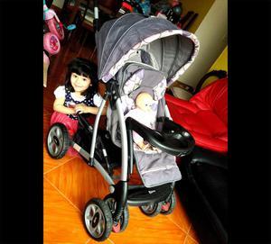 coche para bebe marca BORN, incluye asiento para auto