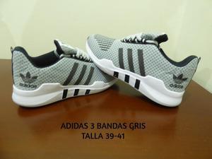 Adidas 3 Bandas Gris