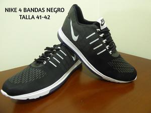 Nike 4 Bandas Negro