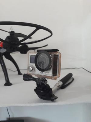 Camara deportiva 4k full hd wifi con accesorios y monopod