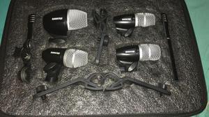 Kit mucrifonos para bateria x 6 shure