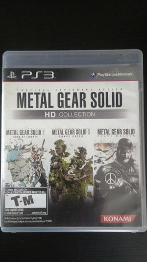 Metal Gear Solid Hd Collection Ps3 Vendo O Cambio 3 juegos.