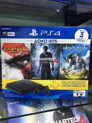 Playstation 4 con Tres Juegos