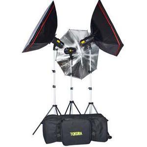 kit de iluminación fotográfico
