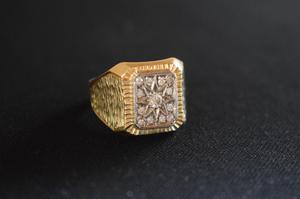 Anillo De Oro 18 K Con 13 Diamantes