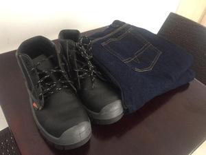botas talla 41 y pantalón talla 32 industrial por solo $100