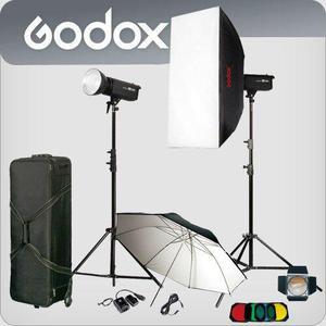 Kit De Luces Godox Dp600, Muy Poco Uso