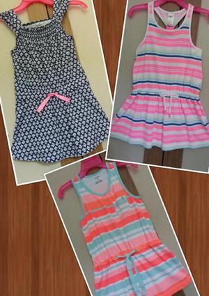 3 Blusas Blusones playa Para Niña Talla 5t Marca Carters