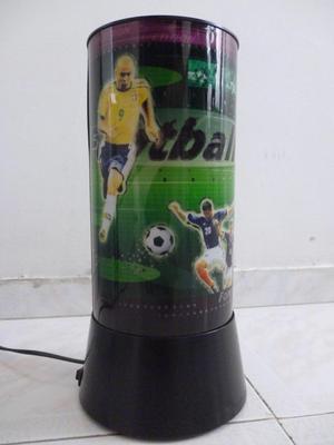 Lampara De Mesa Giratoria Fútbol Movimiento Niños Football