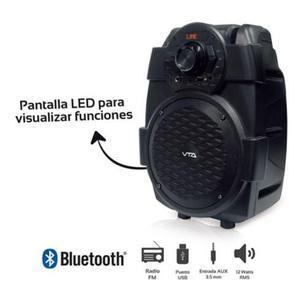 Amplificador Portatil Recargable 12W Rms Bluetooth VTA NUEVO