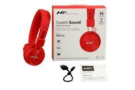Audifonos Diadema Bluetooth Marca NIA X3 4 En 1 Sd, Fm, Aux,