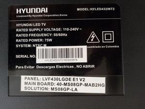 Tv Hyundai para Repuesto