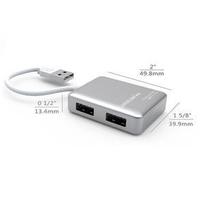 Hub Usb 4 Puertos Ultra Slim Diseño Compacto Estilo Macbook