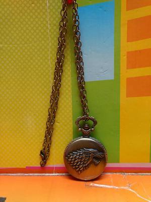 collar reloj de bolsillo juego de tronos stark