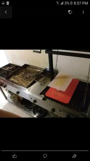 Cocina Fogon Industrial Acero Inoxidable