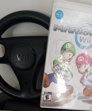 JUEGO de Nintendo Wii Mario Kart y Volante