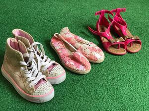 Lote zapatos niña 3 pares