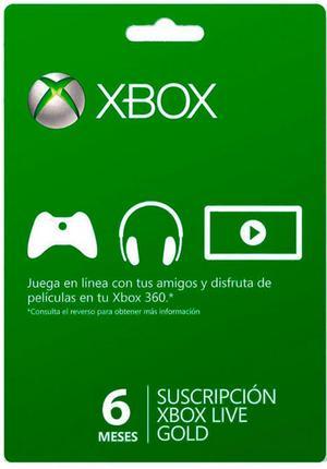 Membresía Xbox Live Gold 6 Meses