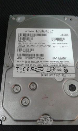 DISCO DURO SATA PC ESCRITORIO 1 TERA, 500 GB Y 80 GB