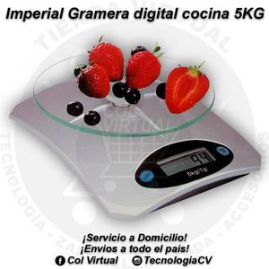 Gramera digital cocina 5KG vidrio templado Imperial MT20