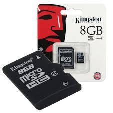 Memoria Micro Sd 8gb Kingston Clase 10 adaptador precio